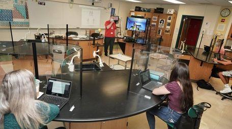 Perry Fuchs teaches his astronomy at Plainedge High