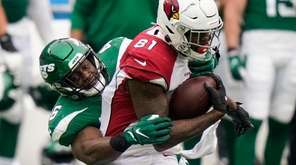 Arizona Cardinals tight end Darrell Daniels (81) runs