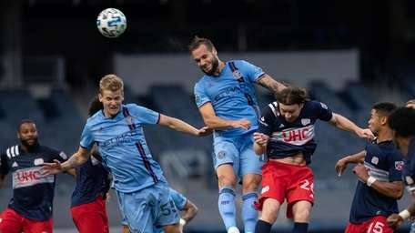New York City FC's Keaton Parks (left) and