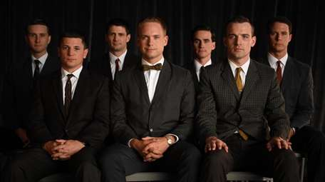 Back left to right: Aaron Staton as Wally
