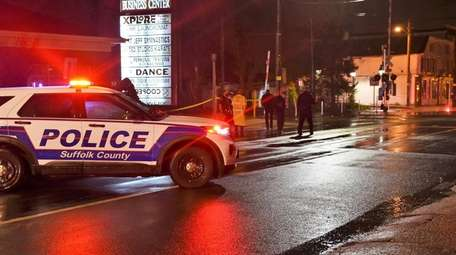 A pedestrian was seriously hurt Monday night when