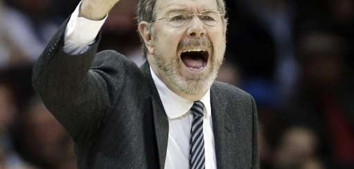 Nets interim head coach P.J. Carlesimo reacts during