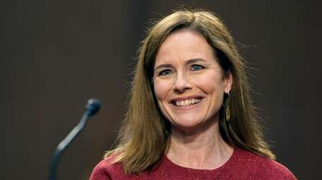 Supreme Court nominee Amy Coney Barrett speaks during