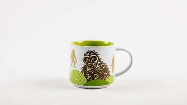 A ceramic Sasquatch mug is among the ethically