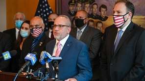 Law enforcement unions Tuesday called for the repeal