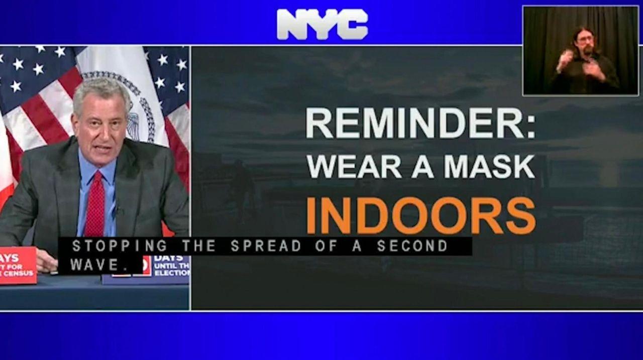 Mayor Bill de Blasio said on Wednesday that