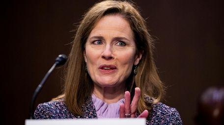 Supreme Court nominee Amy Coney Barrett speaks during