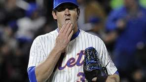 Mets pitcher Matt Harvey is seen on the
