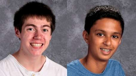 Dylan McCreesh, left, and Aman Mistry of Smithtown