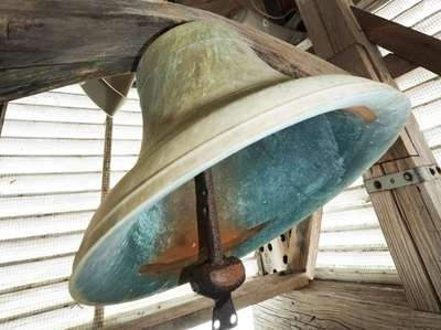 The bell inside the bell tower at the