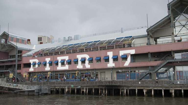 The exterior of Pier 17 at the South