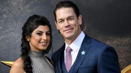 Shay Shariatzadeh and John Cena at the premiere