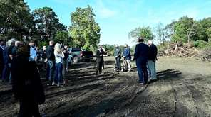 Smithtown officials on Thursday joined developers at a