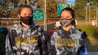 Nicolina Giannola and Julia Mairorino, St. Anthony's girls