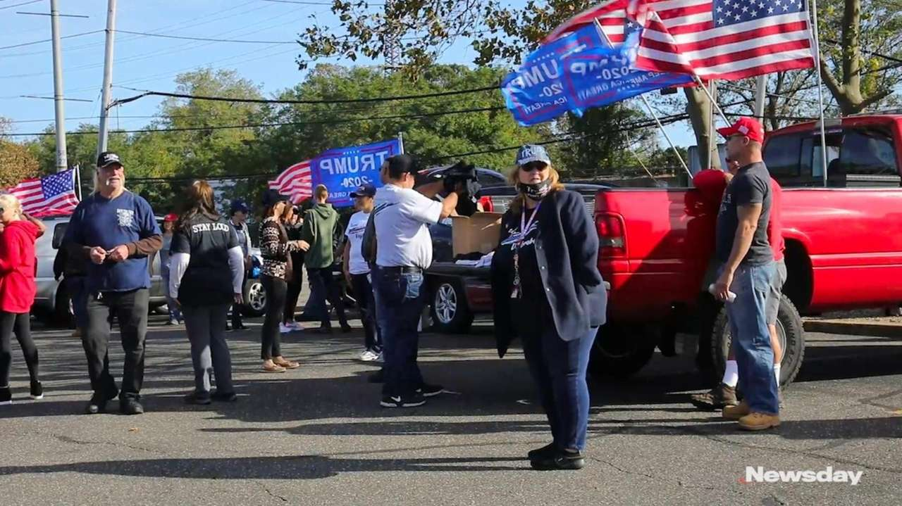 Backers of President Donald Trumpheld a car rally