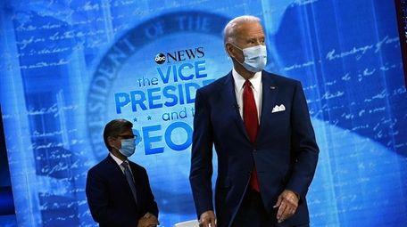 Moderator George Stephanopoulos and Democratic nominee Joe Biden