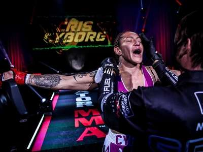 Cris Cyborg defended her featherweight title with a