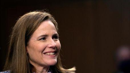 Supreme Court nominee Amy Coney Barrett testifies during
