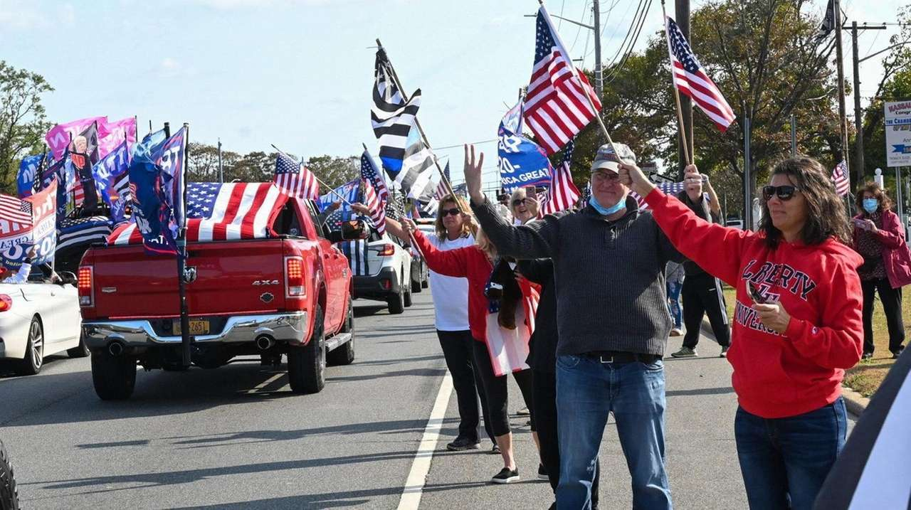 A rolling rally began at the Long Island