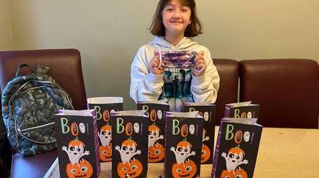 Faith Dalto, 9, of Massapequa Park, plans to