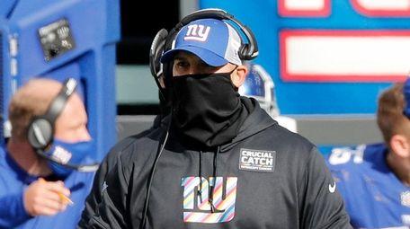 Head coach Joe Judge of the  Giants