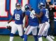 Tae Crowder #48 of the Giants celebrates with