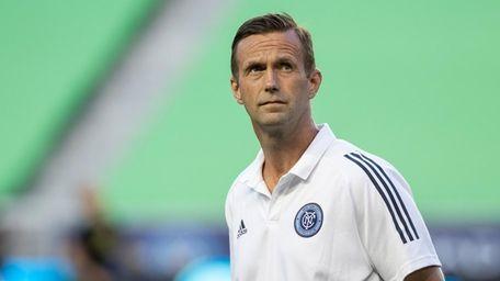 New York City FC coach Ronny Deila looks