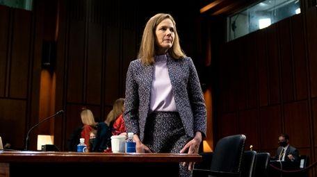 Supreme Court nominee Amy Coney Barrett in a