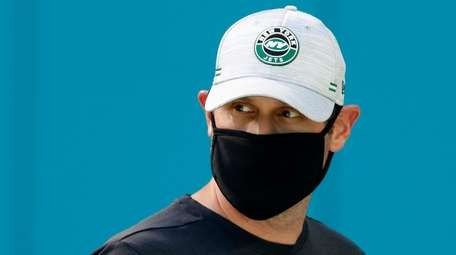 Jets head coach Adam Gase on from the