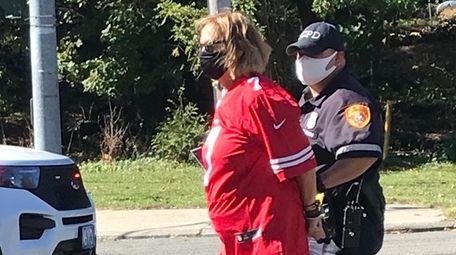 Myrna Gordon, of Port Jefferson, was arrested and