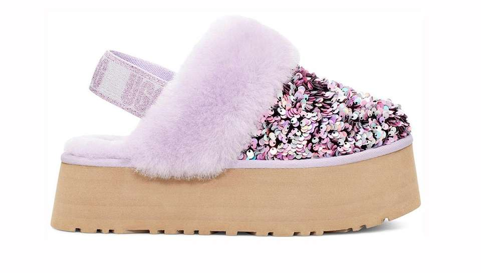 A classic Ugg slipper gets dressed up for