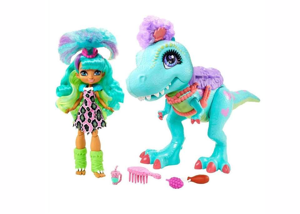 Mattel's Cave Club Dino/Doll is a combination toy