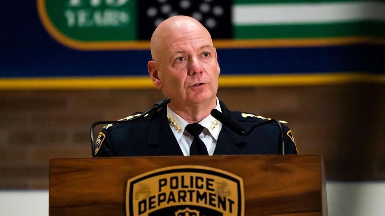 NYPD Chief of Department,Terence Monahan, spoke at a