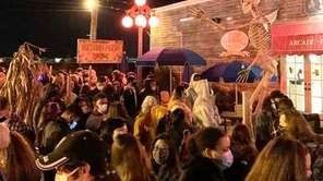Large crowds at Bayville Scream Park the weekend of
