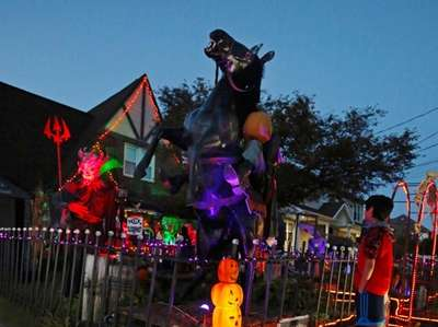 One of the Halloween houses worth driving by