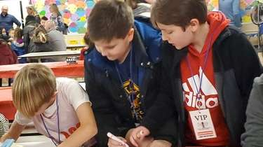 Students at East Lake Elementary School in Massapequa