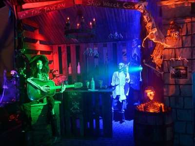 Ship Wreck Cove is a pirate-themed Halloween display