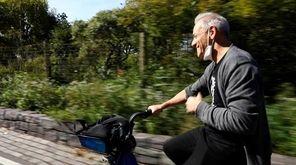 Newsday food writer Scott Vogel takes a bike