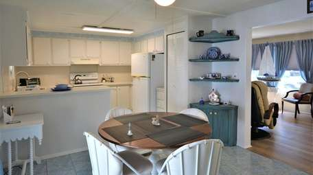 Inside the two-bedroom, two-bath mobile home in the