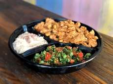 At Taheni in Lindenhurst, a chicken platter is