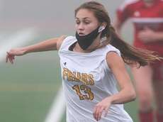 St Anthony's Ava Nielsen plays the ball in