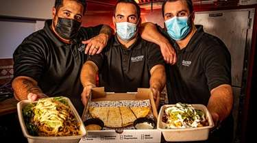 Guac Shop Mexican Grill co-owners Patrick O'Halloran, Sergio