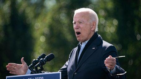 Democratic presidential nominee Joe Biden at Riverside High