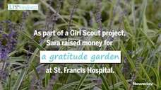 To earn her Girl Scout Gold Star Award,