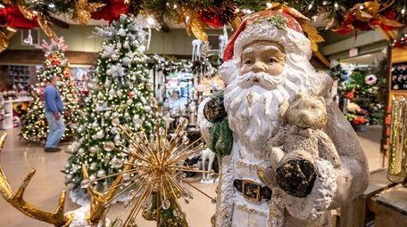 Christmas displays at Hicks Nurseries on Tuesday. The