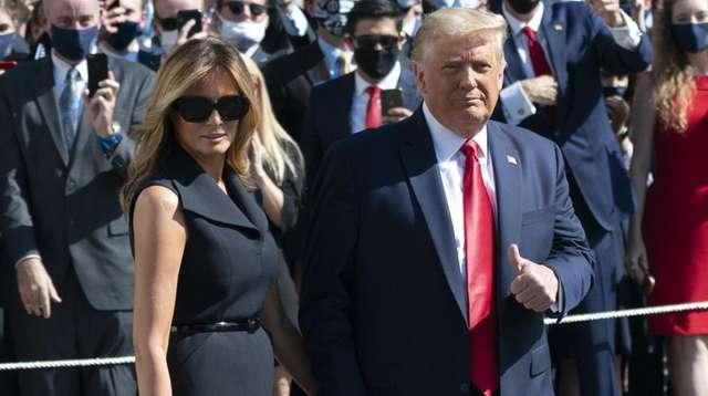 President Donald Trump with first lady Melania Trump