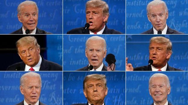 President Donald Trump and challenger Joe Biden at