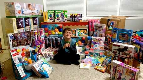 Dylan Hoffman bought toys for the Child Life