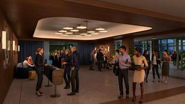 A rendering of the VIP lobby at UBS