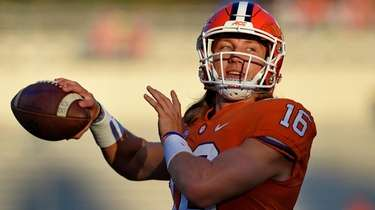 Clemson quarterback Trevor Lawrence on Sept. 21, 2019.